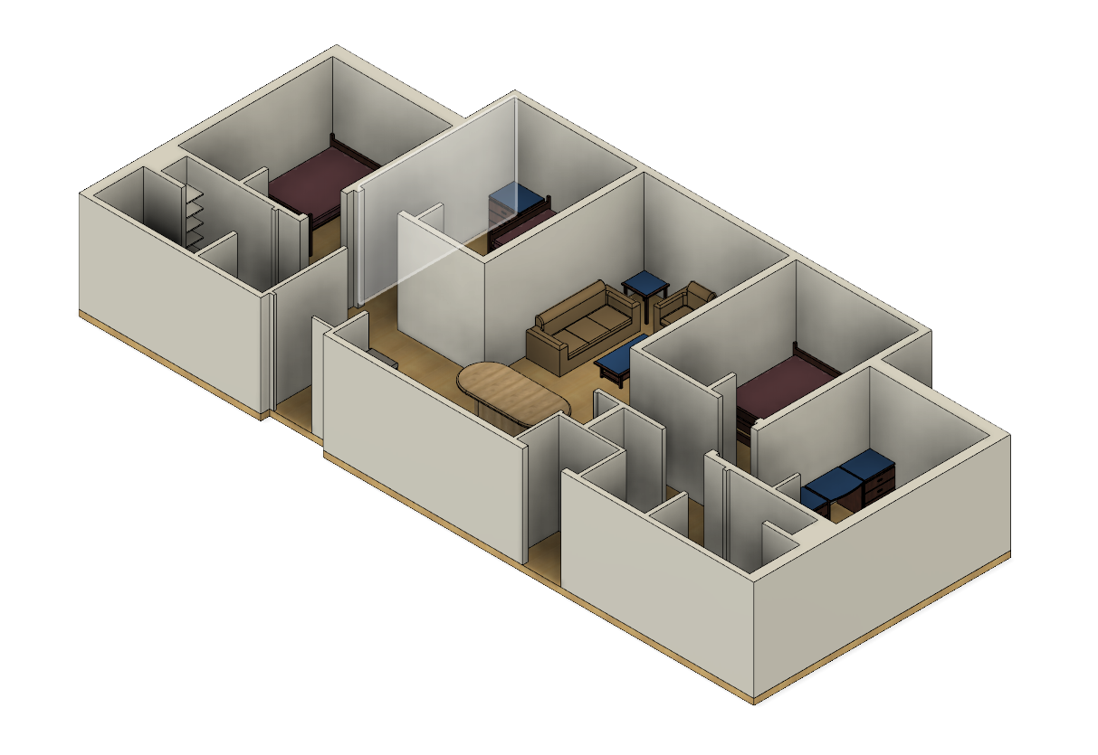 Using Fusion 360 To Make An Apartment Model To Test Furniture Before Moving In Yashas Salankimatt